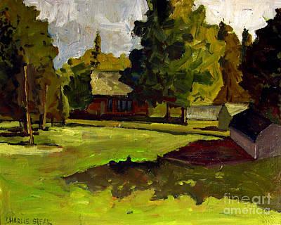 Pasture Flyover Original by Charlie Spear
