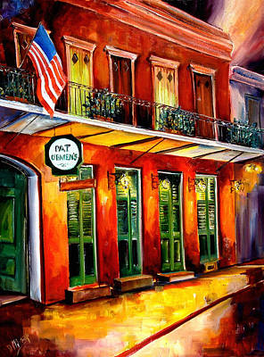 Pats Painting - Pat O Briens Bar by Diane Millsap