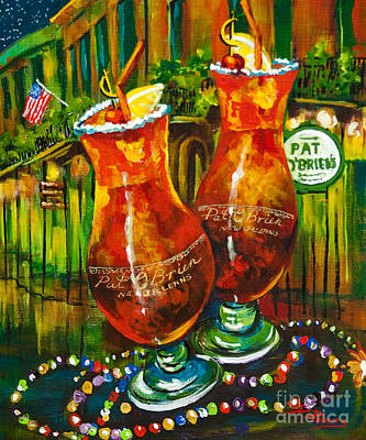 Pats Painting - Pat O' Brien's Hurricanes by Dianne Parks