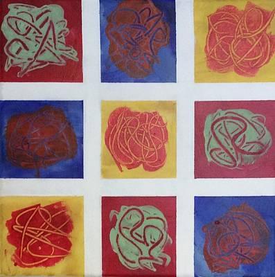 Patchwork Flowers 1 Original by Mahlia Amatina