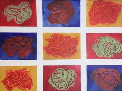 Patchwork Flowers 2 Original by Mahlia Amatina