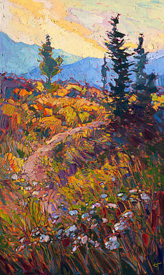Queen Anne Painting - Path In Bloom by Erin Hanson