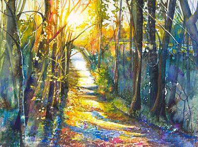 Path To The Bridge Print by Patricia Allingham Carlson