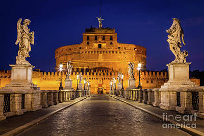 Pathway To Sant'angelo Print by Inge Johnsson