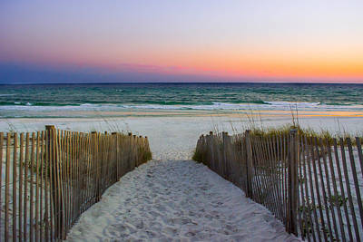 Pathway To Sunset - Seaside, Fl Print by Shelby Young