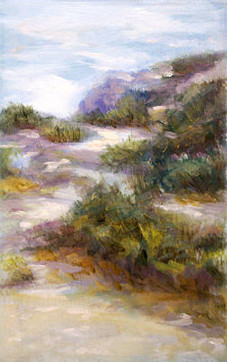 Wash Drawing - Pathway To The Shore by Laura Ury