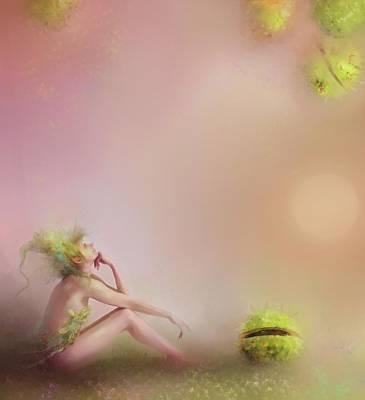 Patience....pretty In Pink Print by Joe Gilronan