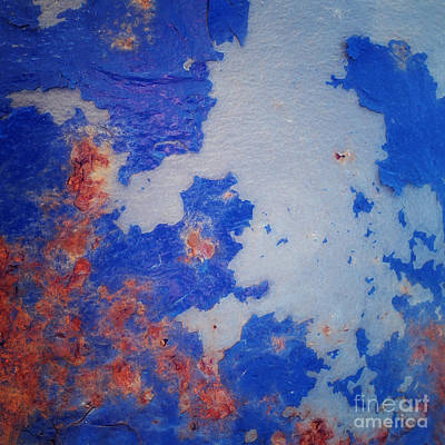 Light Blue Abstracts Photograph - Patina 6 by Priska Wettstein