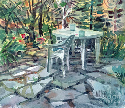 Patio Print by Donald Maier