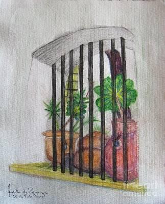 Patio Window - Gifted Original by Judith Espinoza
