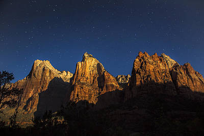 Zion National Park Photograph - Patriarchs Under The Stars by Andrew Soundarajan