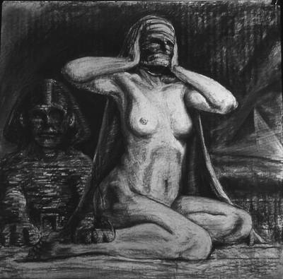 Male Nude Drawing Drawing - Patriarchy by Chris  Riley