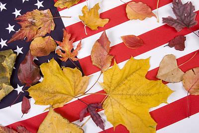 Flags Photograph - Patriotic Autumn Colors by James BO  Insogna