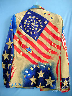Star Spangled Banner Mixed Media - Patriotic Jacket. American Flag With 31 Stars by Sofia Metal Queen
