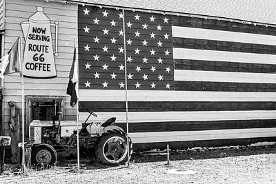 Will Rogers Photograph - Patriotic Route 66 by Anthony Sacco