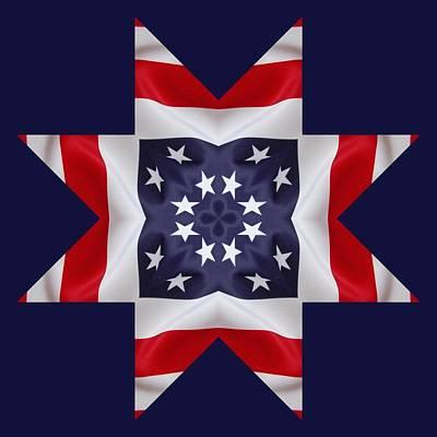 4th Digital Art - Patriotic Star 2 - Transparent Background by Jeff Kolker