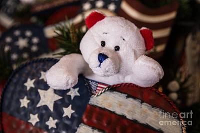 Patriotic Teddy Bear Print by Lynn Sprowl
