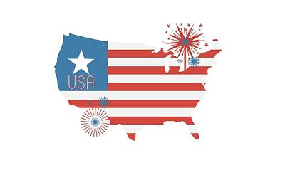 Patriotic Usa Print by Chastity Hoff