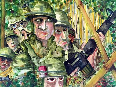 Laos Painting - Patrol by Jame Hayes
