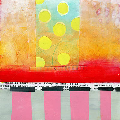 Abstract Collage Painting - Pattern # 7 by Jane Davies