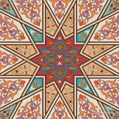Islamic Painting - Pattern Art 005 by Gull G