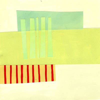 Abstract Collage Painting - Pattern Grid # 13 by Jane Davies