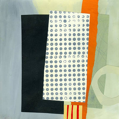 Abstract Collage Painting - Pattern Grid # 17 by Jane Davies