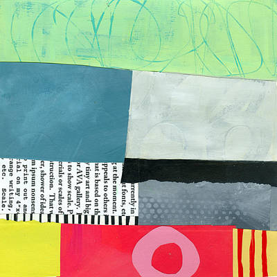 Abstract Collage Painting - Pattern Grid # 20 by Jane Davies