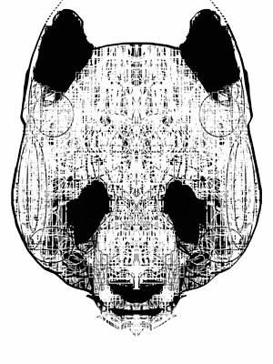 Patterned Panda Print by Harold Belarmino