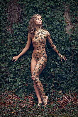 Nude Girl Photograph - Patterns In The Ivy by Martin Zvonar