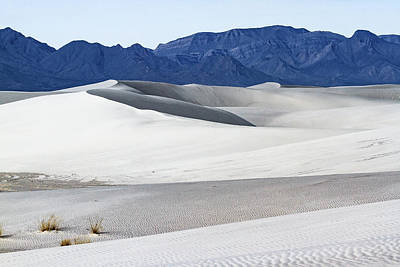Patterns On White Sands - New Mexico Print by Ellie Teramoto