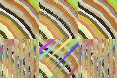 Abstract Digital Art - Patterns Panel 3 by SC Heffner
