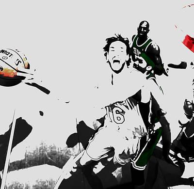 Rajon Mixed Media - Pau Gasol 2c by Brian Reaves