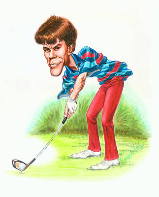 Golf Drawing - Paul Azinger by Harry West