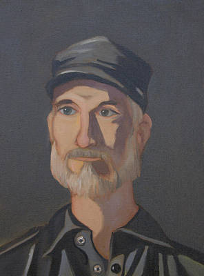 Painting - Paul Bright Portrait by John Holdway