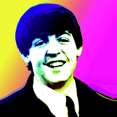 1960s Digital Art - Paul Mccartney by Greg Joens