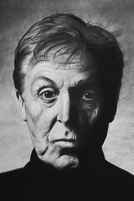 Paul Mccartney Drawing - Paul Mccartney by Steve Hunter