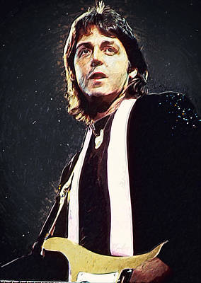 Mccartney Digital Art - Paul Mccartney by Taylan Soyturk