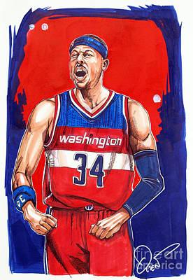 Paul Pierce Washington Wizards Original by Dave Olsen
