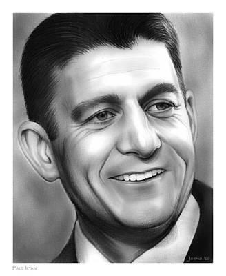 Republican Drawing - Paul Ryan by Greg Joens