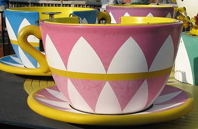 Pavilion Tea Cups Print by Kelly Mezzapelle