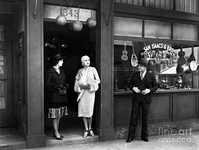 Storefront Photograph - Pawn Shop, C1925 by Granger
