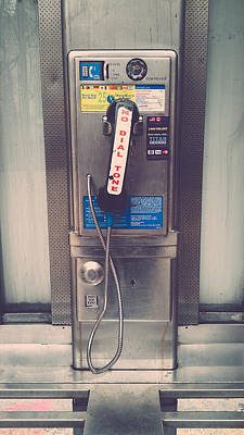 Pay Phone Print by Erin Cadigan