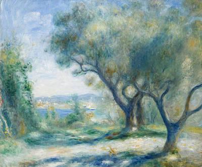 Pierre-auguste Renoir Painting - Vue De Mourillon by Pierre-Auguste Renoir
