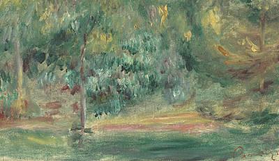 Paysage Print by Pierre Auguste Renoir