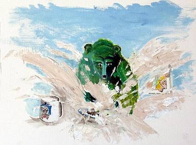 Porridge Painting - Pea As In Porridge by Chris Walker