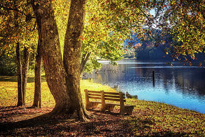 Peace At The Lake Print by Debra and Dave Vanderlaan