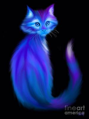 Painting - Peace Cat Blues by Nick Gustafson