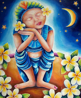 Buddhist Painting - Peace by Deb Broughton