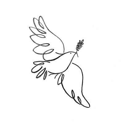 Animals Drawing - Peace Dove by Jenni Robison